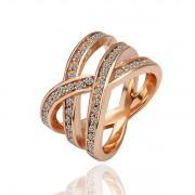 3-Кольцо Кольцо18 каратное золотое 18 каратное золотое покрытие орный хрусталь Austrian Crystal SWA Element