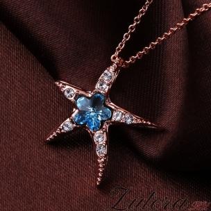 "Кулон ""Морская Звезда"" (бирюзовый кристалл)"