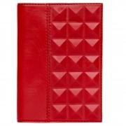Обложка для паспорта «Геометрия» (Красная)